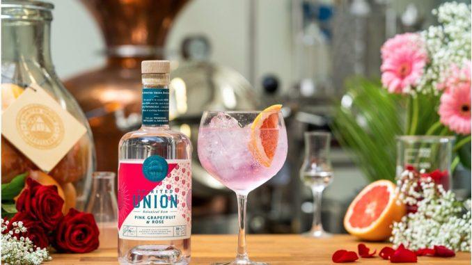 Spirited Union Pink Grapefruit and Rose Botanical Rum with tonic