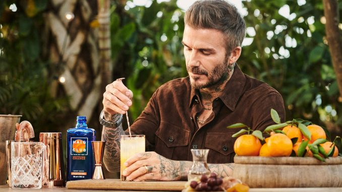 David Beckham Haig Club Mediterranean Orange